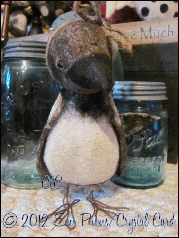Maggie Magpie Primitive folk art bird doll