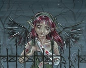 Still Waiting For You ACEO - limited edition print 3/20 by Delphine Levesque Demers