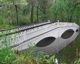 White Bridge over Water 8x10 Fine Art Photograph