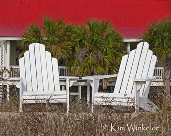 Beach Chairs Fine Art Photograph 8x10