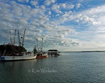 Shrimp Trawlers & Sky--Fine Art Photograph  8x10