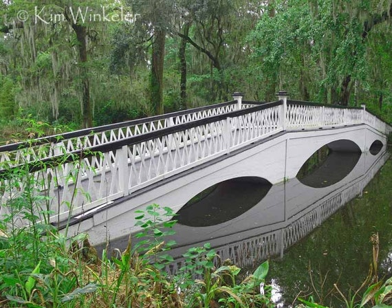 White Bridge over Water 8x10 Fine Art Photograph