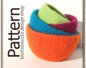Felted Nesting Bowls - Crochet Pattern (PDF) - INSTANT DOWNLOAD