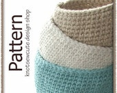 Oval Cotton Storage Bins - Crochet Pattern (PDF) - INSTANT DOWNLOAD