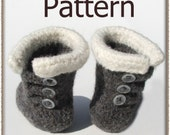 Felted Baby Button Boots - Crochet Pattern (PDF) - INSTANT DOWNLOAD