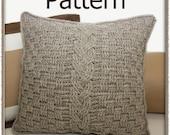 Aran Accent Pillow - Crochet Pattern (PDF) - INSTANT DOWNLOAD