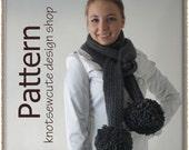 Extreme Pom-Pom Scarf - Crochet Pattern (PDF) - INSTANT DOWNLOAD