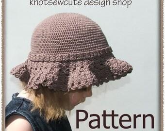 Girls Sunhat (Two Looks) - Crochet Pattern (PDF) - INSTANT DOWNLOAD