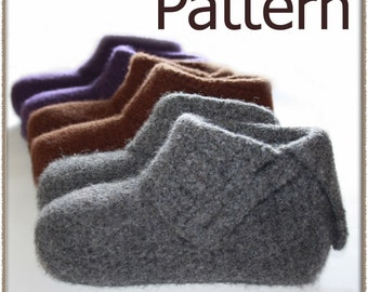 Simply Felted Ladies Slippers - Crochet Pattern (PDF) - INSTANT DOWNLOAD