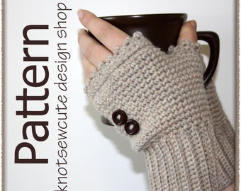 Ladies Fingerless Mitts - Crochet Pattern (PDF) - INSTANT DOWNLOAD