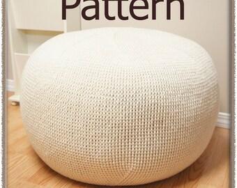 Pinwheel Pouf - Crochet Pattern (PDF) - INSTANT DOWNLOAD