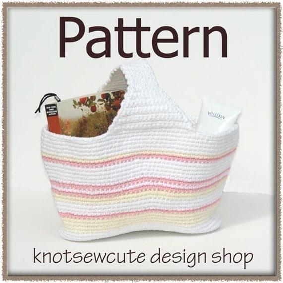 Mini Tote Bag - Crochet Pattern (PDF) - INSTANT DOWNLOAD