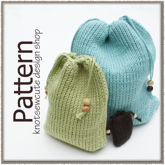 Crochet Patterns For Bags Drawstring : Drawstring Gift Bags Tunisian Crochet Pattern PDF by ...