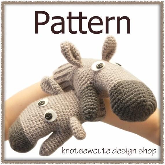 Donkey Mitts - Crochet Pattern (PDF) - INSTANT DOWNLOAD