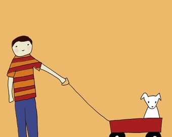 Boy's Best Friend 8x10 Print