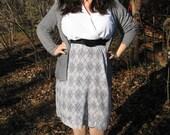 80s plus size secretary dress / 1980s plus size dress xxl