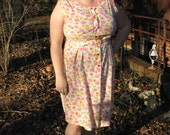 plus size 60s floral dress / plus size dress xxl