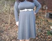 80s plus size knit dress / 1980s plus size dress xxl
