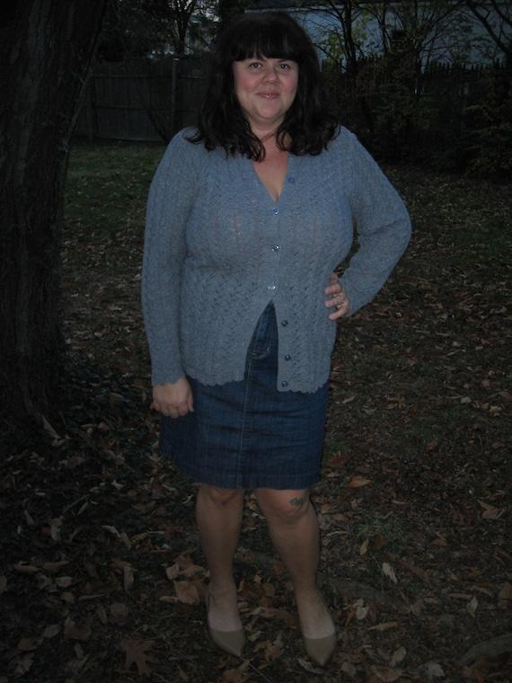1960s cardigan / plus size vintage cardigan
