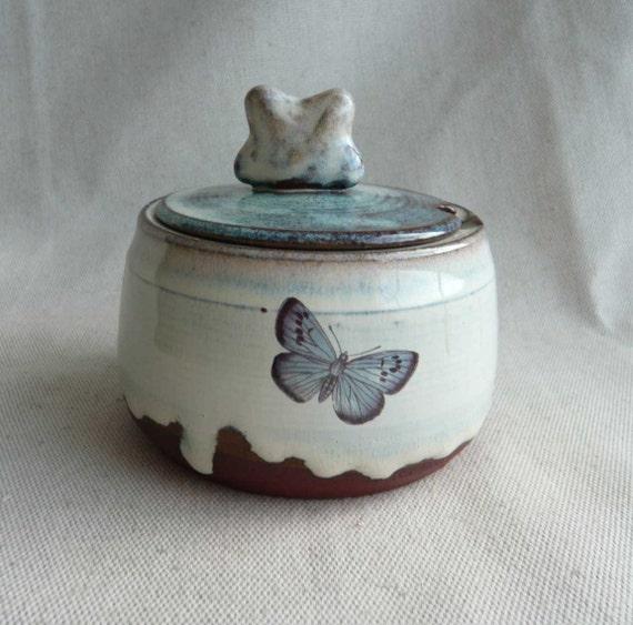 SALE Butterfly Sugar Pot