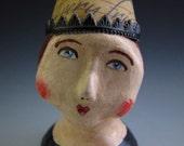 SALE -- folk art doll halloween witch - spooky