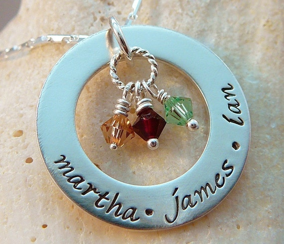 Eternal Love Washer Pendant Personalized and Customized