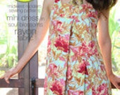 Amy Butler Mini Dress, Tunic and Tops Sewing Pattern, FREE SHIPPING