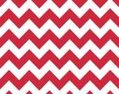 Riley Blake Small Chevron Red Fabric, 1 yard