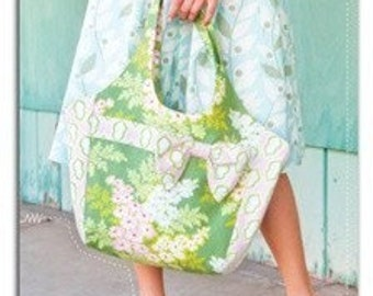 Heather Bailey Saturday Market Tote Sewing Pattern, FREE SHIPPING