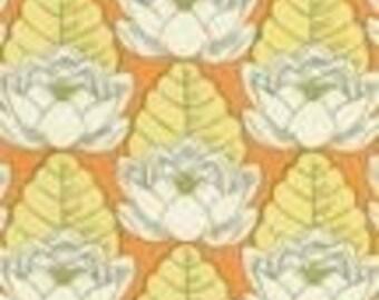 Amy Butler Tangerine Lotus Designer Fabric, 1 yard