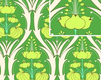 Amy Butler Passion Lily Fern Laminated Fabric, 1 yard