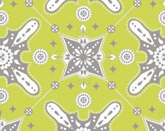 Ty Pennington Moorish Chartruese Fabric, 1 yard