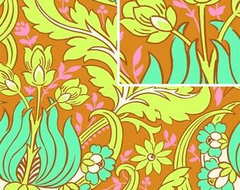 Amy Butler Temple Tulips Cinnamon Fabric, 1 yard