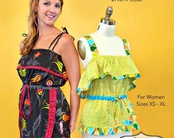 Patty Young Mod Kid Gabriele Sleeveless Summer Dress/Shirt Sewing Pattern, FREE SHIPPING