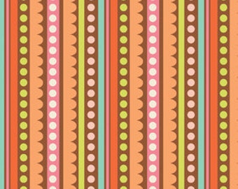 Sweet Nothings Brown Sweet Stripe Fabric, 1 yard