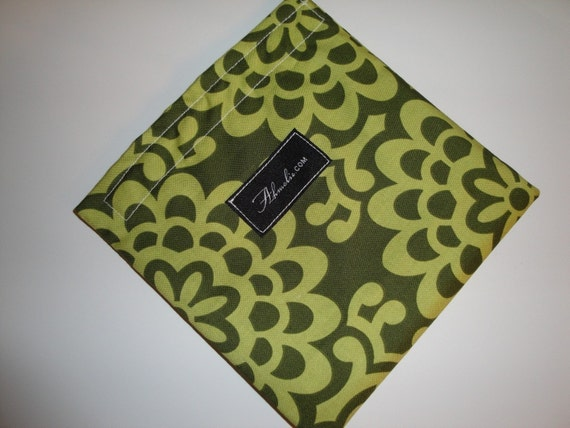 Amy Butler Green Wallflower Eco Friendly Snack Sack Bag