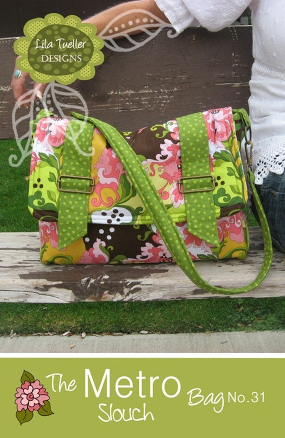 Lila Tueller The Metro Slouch Bag Sewing Pattern, FREE SHIPPING