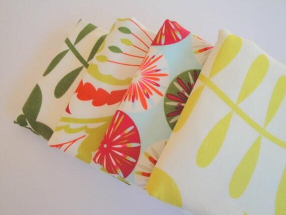 Dena designs kumari garden baby burp cloth set 4 for Dena designs kumari garden