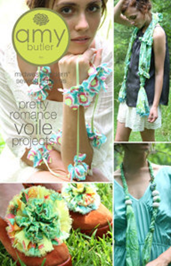 Amy Butler Pretty Romantic Voile Projects Pattern, FREE SHIPPING