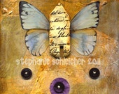 """Art Print of Original Collage:  """"Flying Home"""""""