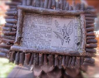 Rustic Woodland Pokeweed Ornament