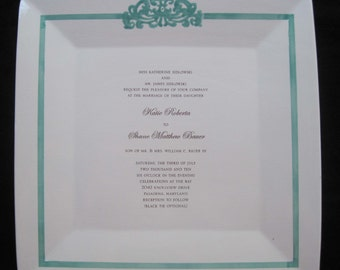 14 inch Asian Flared Wedding Invitation Plate