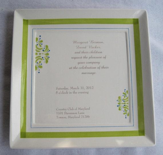 "12""  Wedding Plate"
