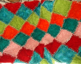 raggy flannel quilt REDUCED