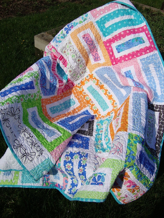 Skinny Dip lap quilt - REDUCED
