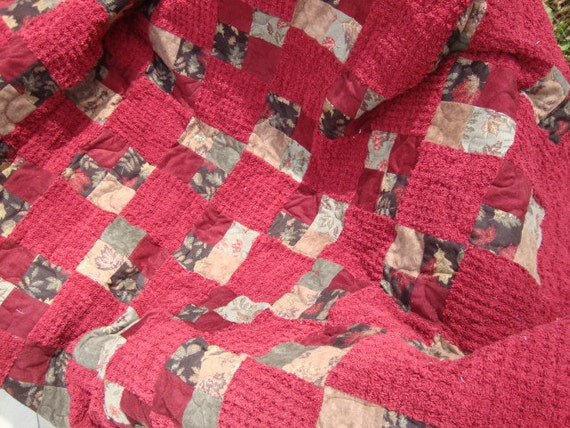 reserved for Cherylanne Chenille Snuggle Lap Quilt - reduced