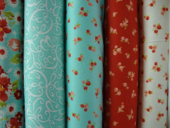 Ruby  flannel fat quarters