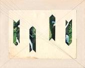 "LANDSCAPE STRIPES 2 //// Original Collage On 8"" x 10"" Newsprint (unframed)"