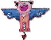 Pigs Fly pendulum clock