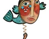 Fishy Boy pendulum clock